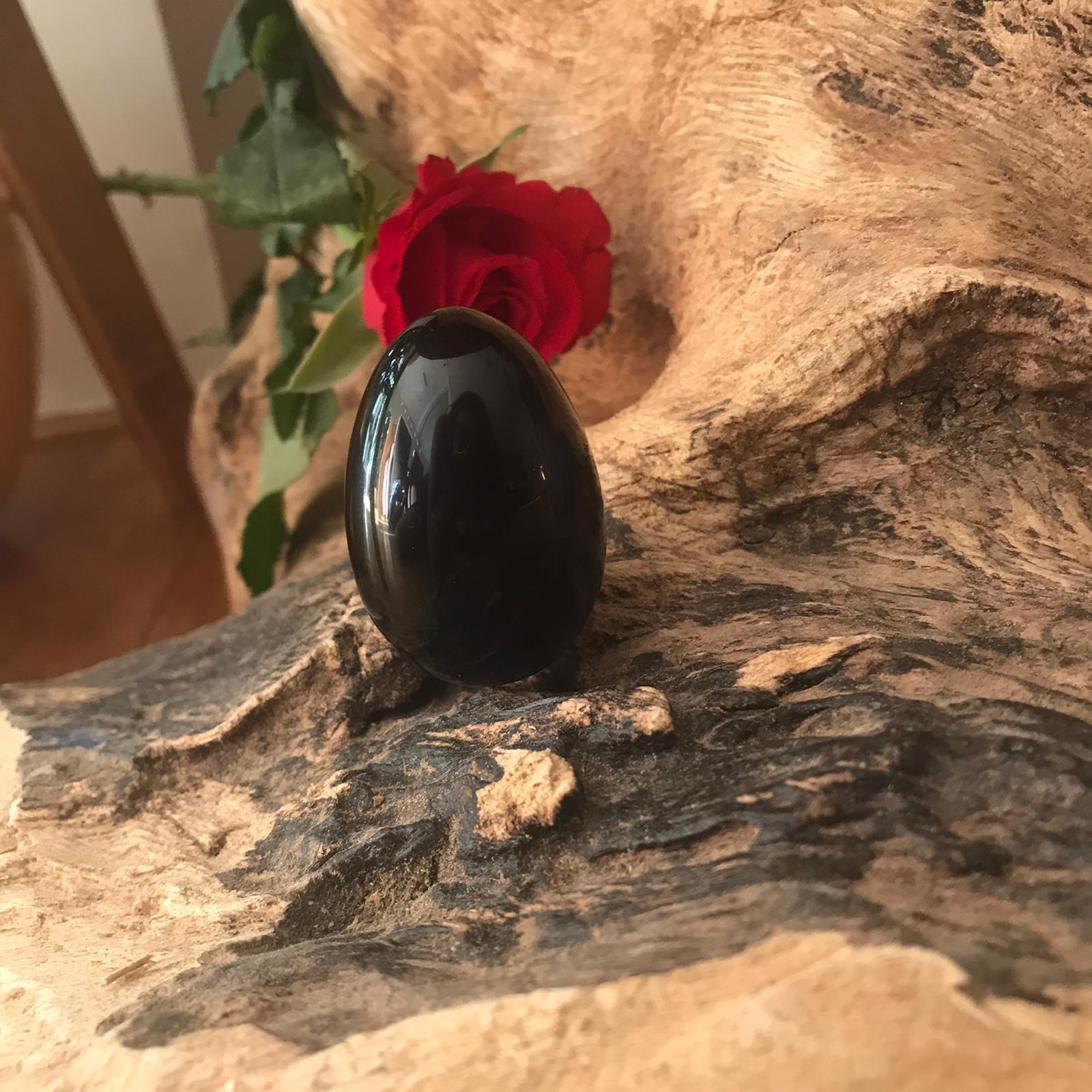 Ovo Yoni de Obsidiana Negra (yoni egg) - 3inBalance